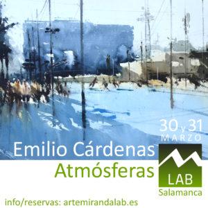 """EMILIO CÁRDENAS </br></br>Curso Intensivo de ACUARELA </br></br>""""ATMÓSFERAS"""" @ Artemiranda LAB"""