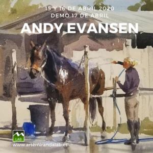 """ANDY EVANSEN </br></br>Curso Intensivo de ACUARELA </br></br>""""Pintando con Andy Evansen 2"""" @ Artemiranda LAB"""