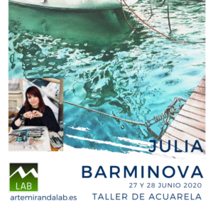 """JULIA BARMINOVA </br></br>Curso Intensivo de ACUARELA </br></br>""""Pintando el mar"""" @ Artemiranda LAB"""